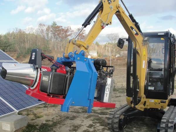 Mass. Solar Operator Fields Snow-Removal System For Ground-Mounted Arrays