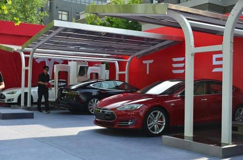 Hanergy Develops Solar Charging Stations For Tesla In China