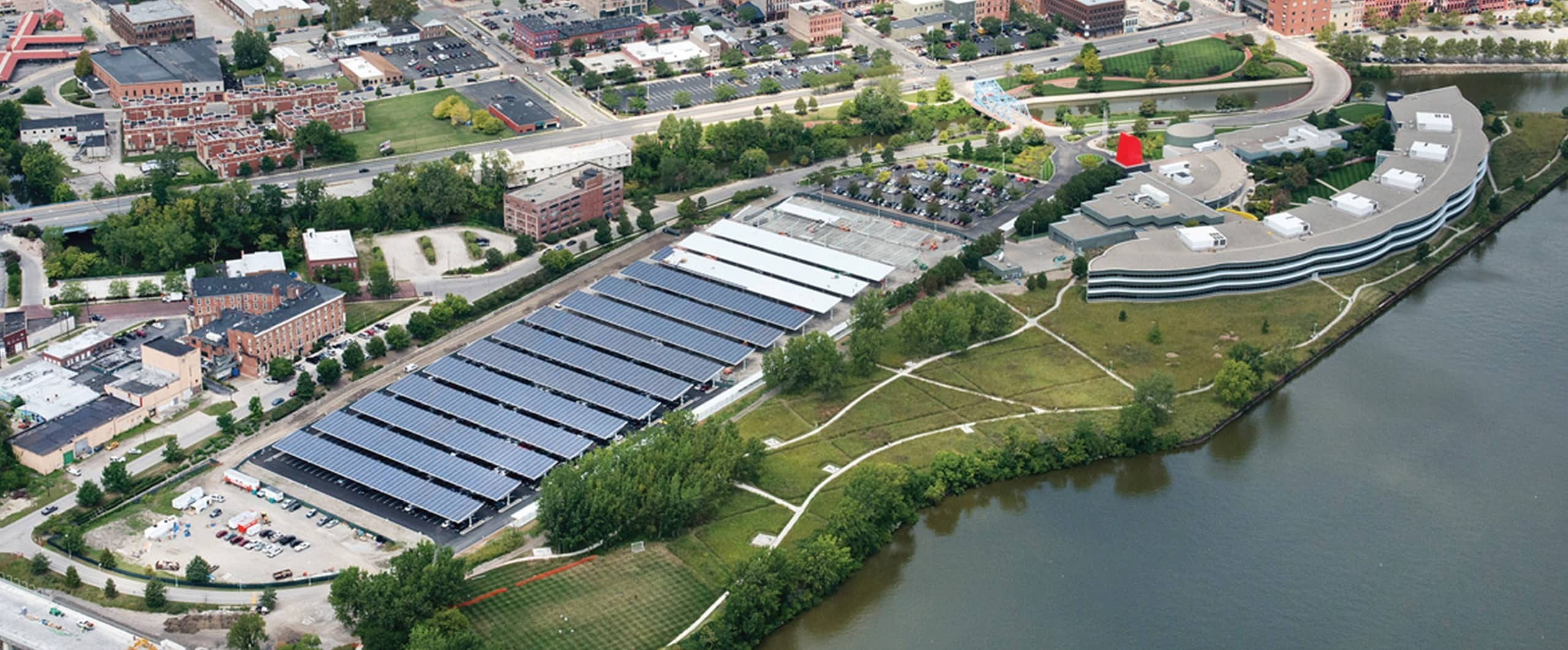 Constellation And Owens Corning Complete 2.4 MW Solar Parking Canopy In Toledo