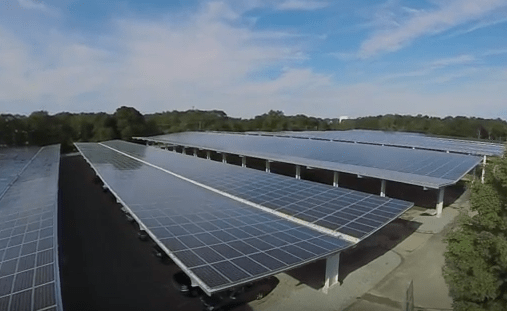 New England's Largest Solar Parking Canopy Installed At Mass. College