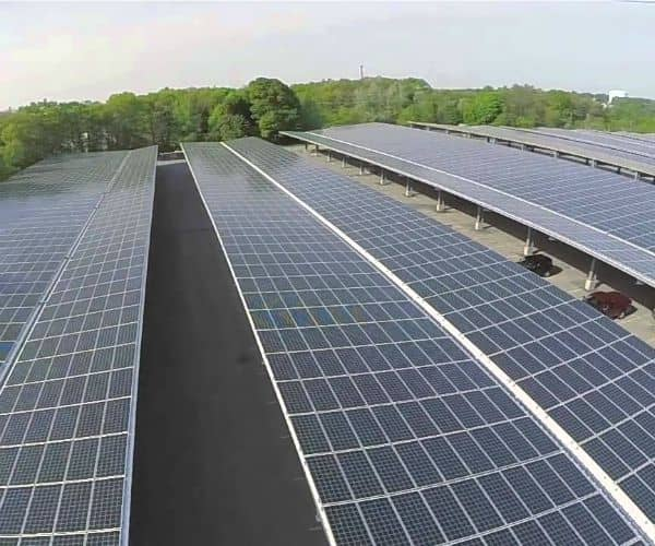 Mass. Community College Receives 3.2 MW Solar Canopy System