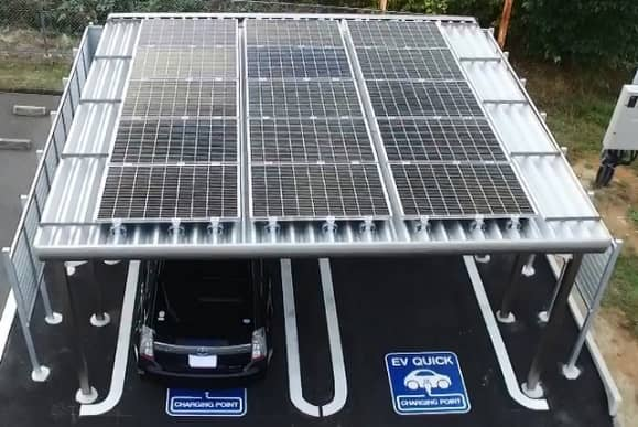 Kyocera Deploys Solar EV Recharging Stations In Japan