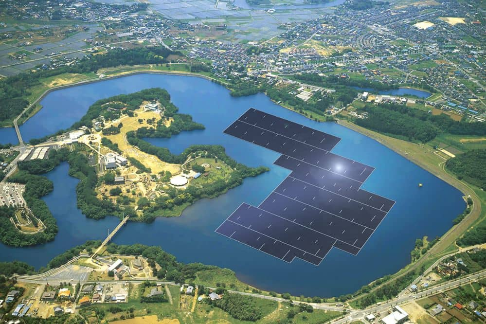 16087_kyocera_floating Construction Kicks Off On 13.7 MW Floating Solar Project In Japan