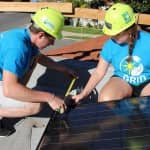 Students Help Low-Income Families During 'Solar Spring Break'