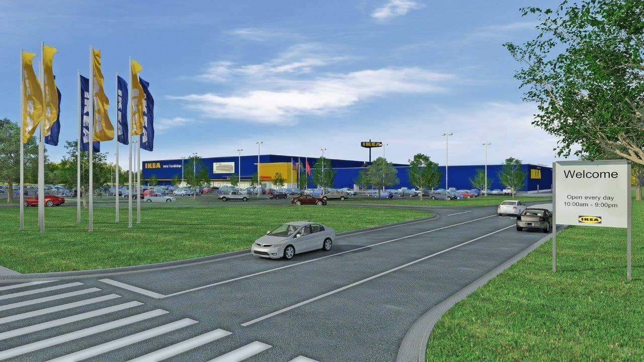 IKEA-Rendering IKEA To Host Tennessee's Largest Rooftop Solar Array