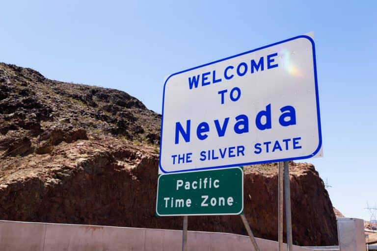 Welcome to Nevada sign along the highway