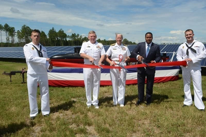 Georgia-Power Georgia Power And U.S. Navy Cut Ribbon On Solar Project