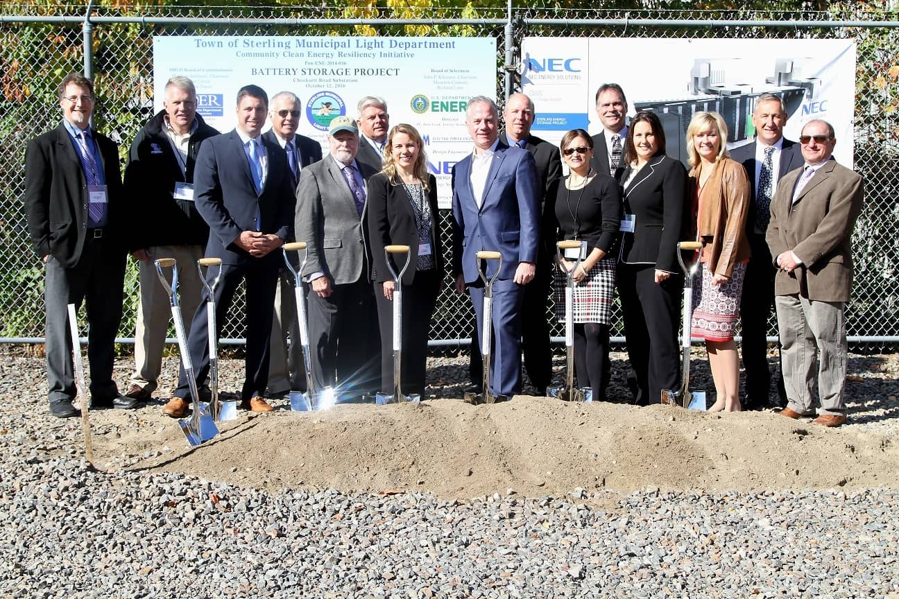 NEC-Energy Officials Break Ground On Large Energy Storage Project In Mass.
