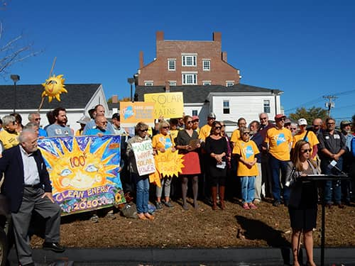 Solar-net-metering-rally-at-PUC-10-17-16 Solar Advocates Urge Maine PUC To 'Do The Right Thing' For Net Metering