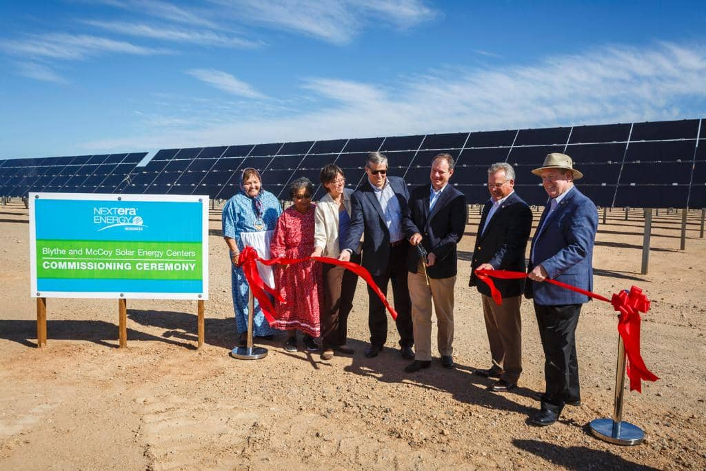 blythe NextEra Commissions 485 MW Of New Solar In California