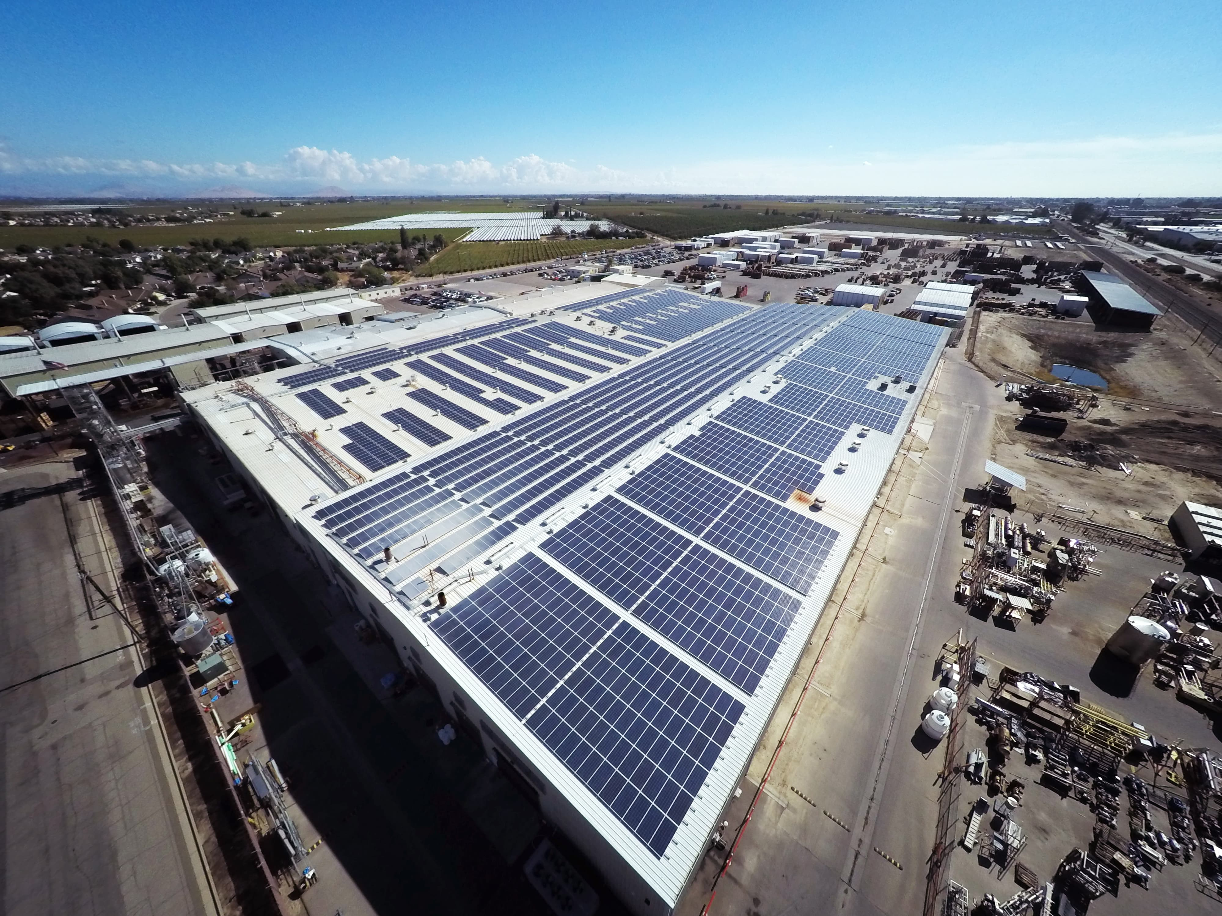 NationalRaisin Large Commercial Solar Projects Go Online In Fowler, Calif.