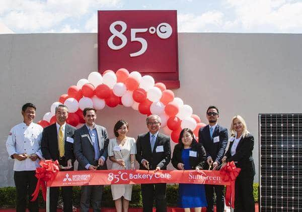 85c Bakery/Cafe Chain Celebrates Its First Solar-Powered Facility