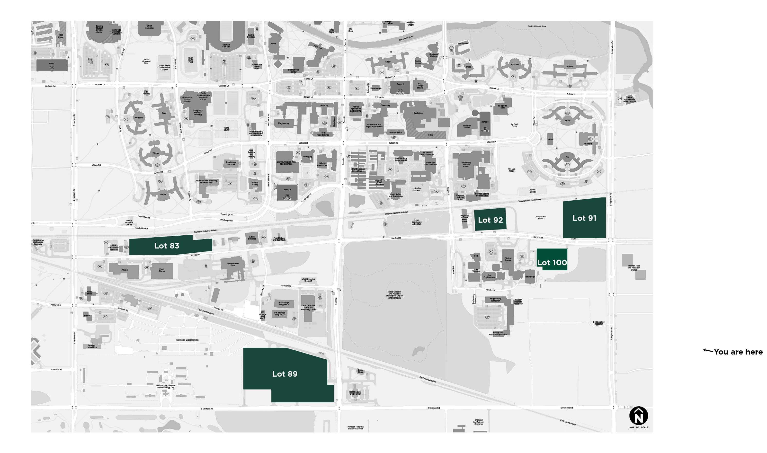 solar-array-parking-lot-map Construction Starts On Solar Carports At Michigan State University