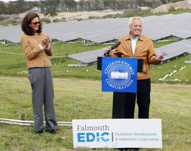 Citizens-Energy Joe Kennedy Commissions Falmouth Landfill Solar Project