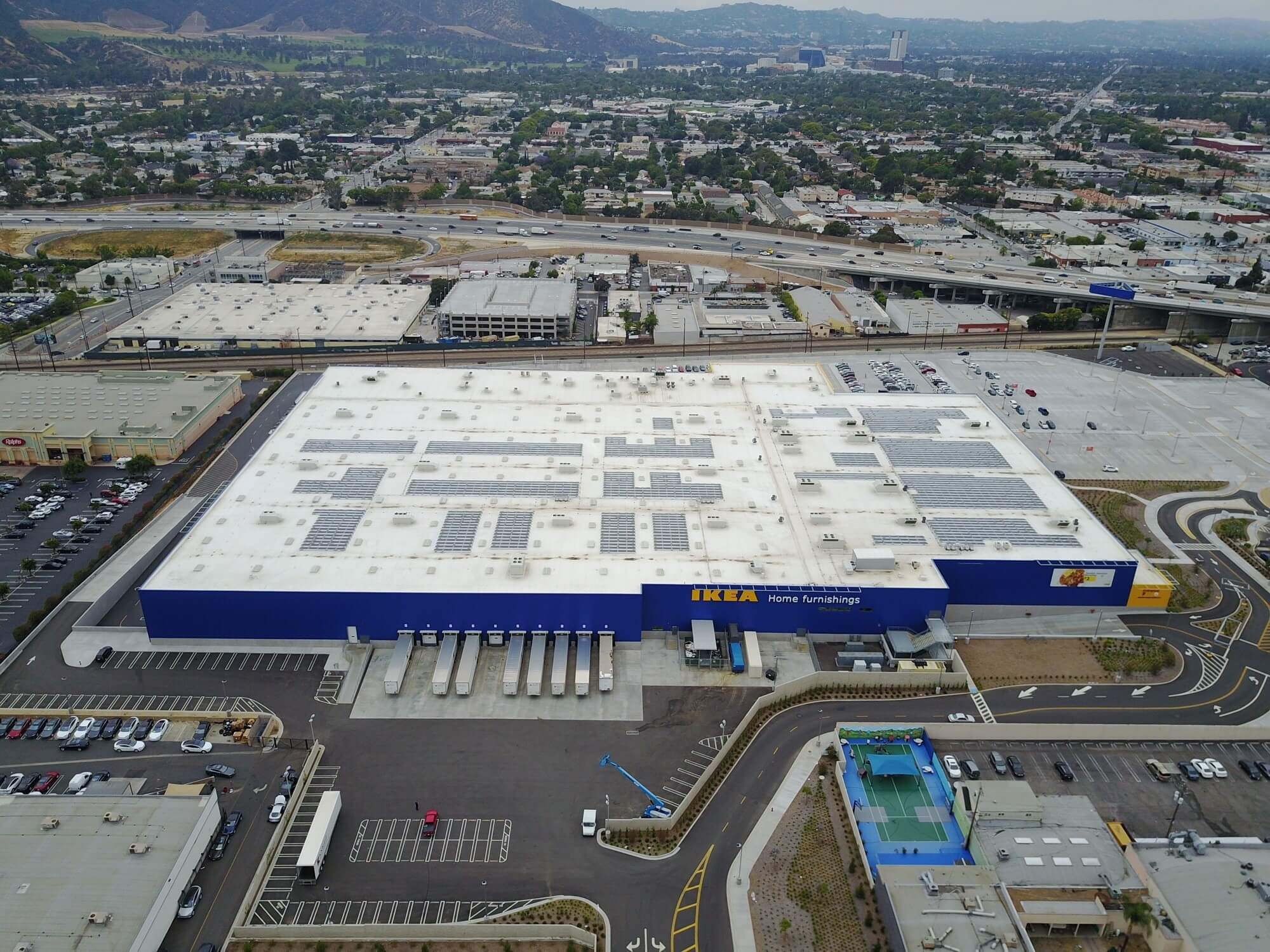 IKEA IKEA Flips Switch On Solar Array At Relocated Burbank Store