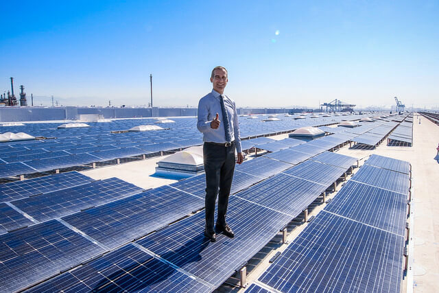 LA-MAYOR L.A. Mayor And Partners Mark Completion Of Massive Rooftop Solar Project