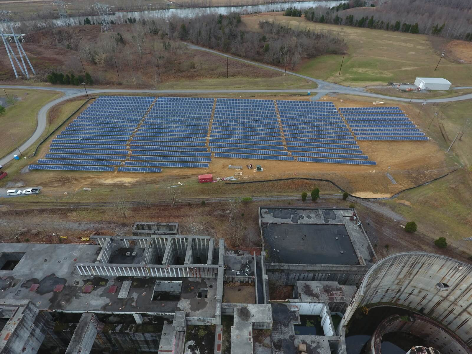 United-Renewable-Energy Unfinished Nuclear Plant Site Repurposed With Solar Farm
