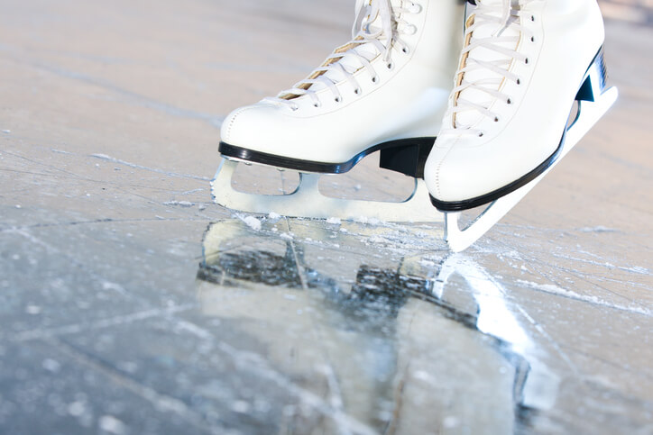 ice-skates N.Y. Power Authority Helps City Install Solar Atop Ice Rink