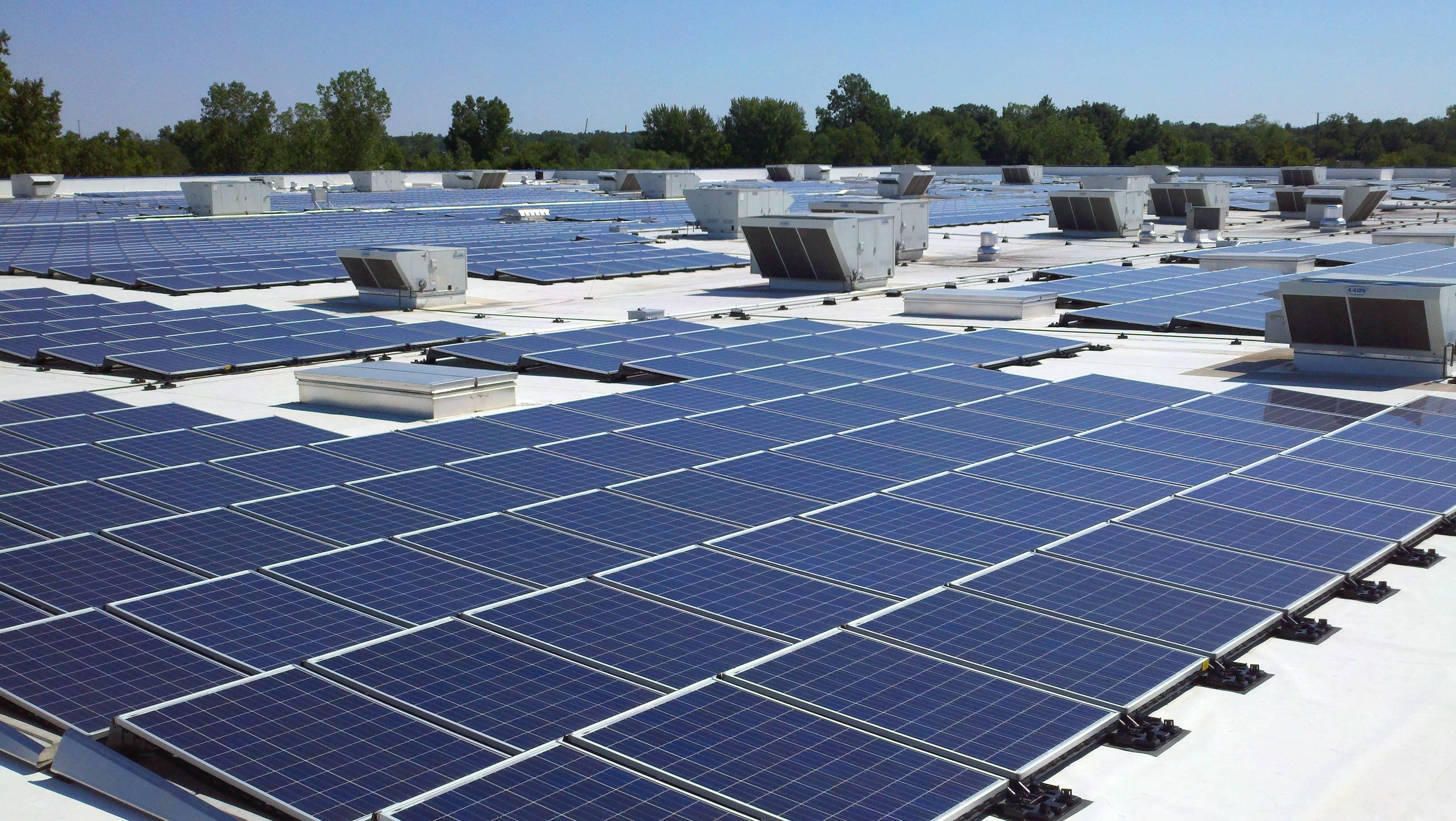 ikea expands rooftop solar array at detroit area store solar industry. Black Bedroom Furniture Sets. Home Design Ideas