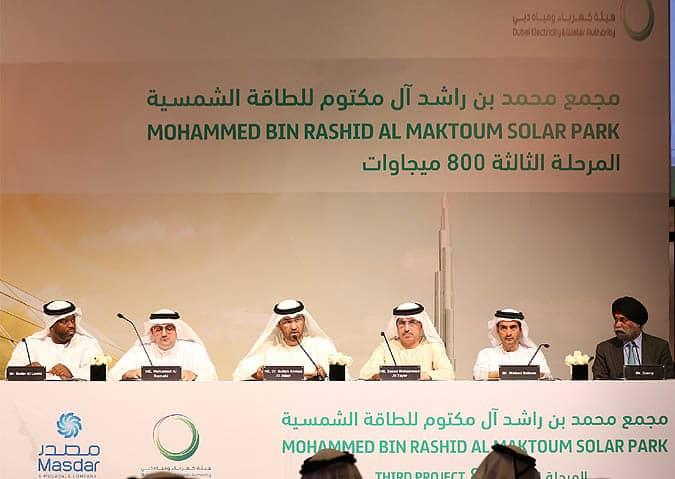 masdar Masdar Consortium Wins Bid For 800 MW Dubai Solar Project