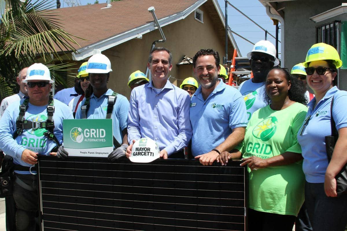 GRID Nonprofit Installer, L.A. Mayor Announce Low-Income Solar Pledge