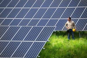 Technicians at Solar Power Station