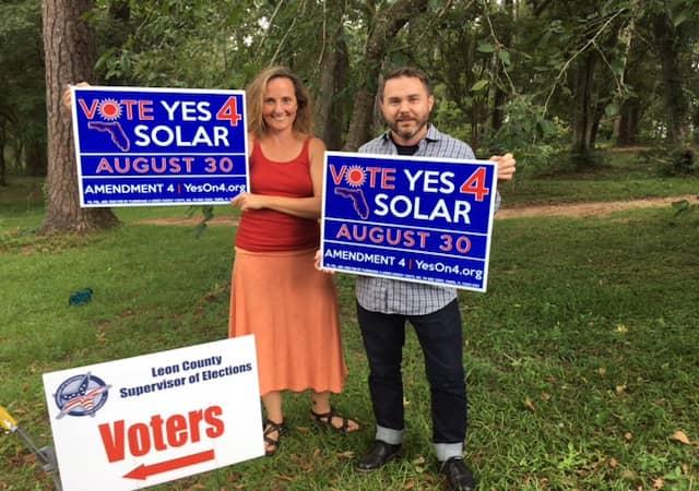 Vote-Solar-1 Florida Voters Overwhelmingly Approve Solar Amendment