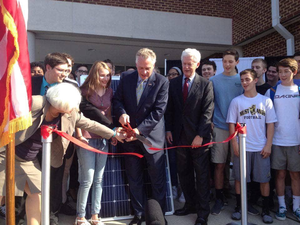 Virginia Governor Highlights Virginia's Energy Progress At School Solar Project