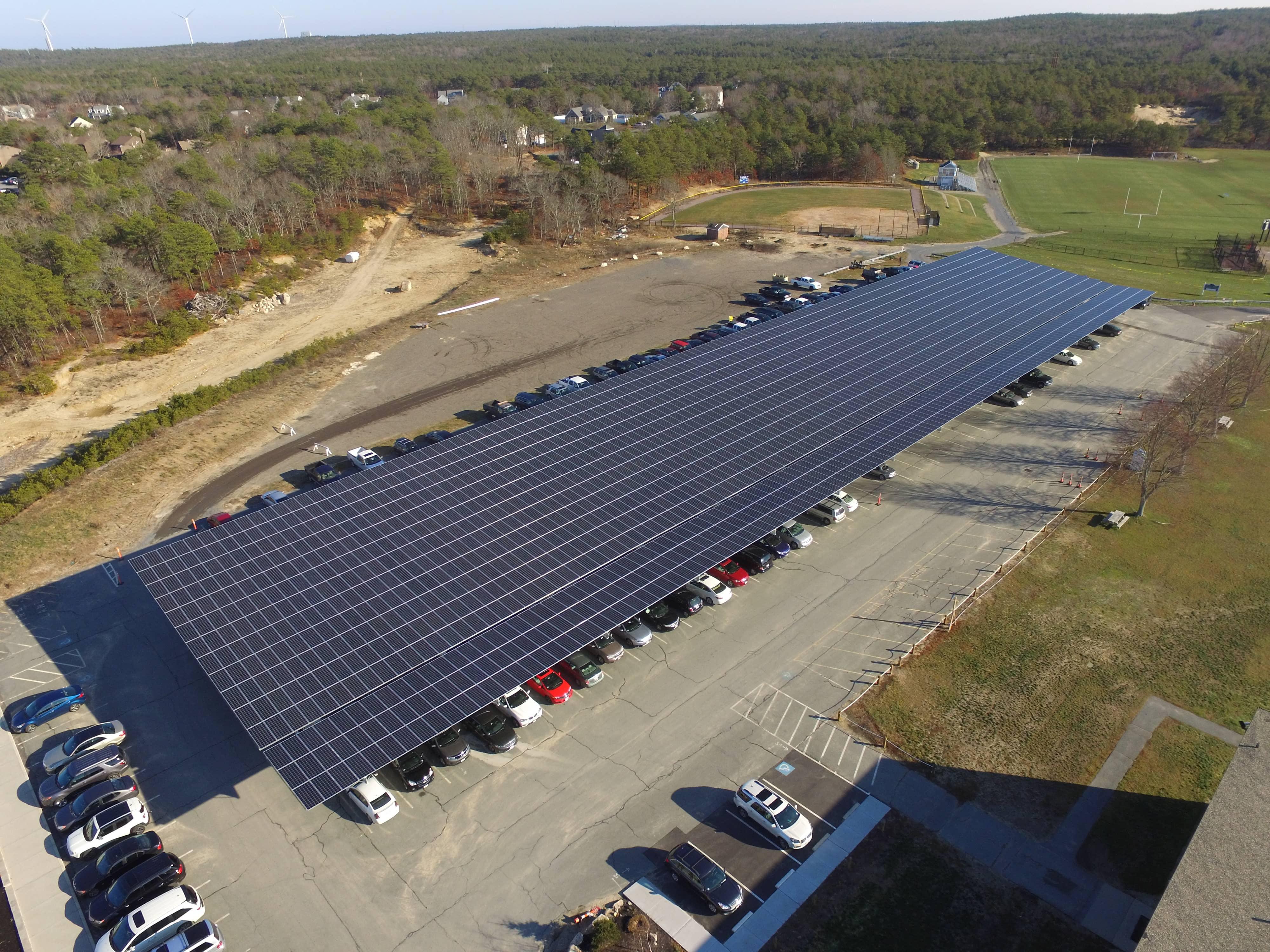 Upper-Cape-Cod Technical School Enhances Curriculum With Solar Canopy