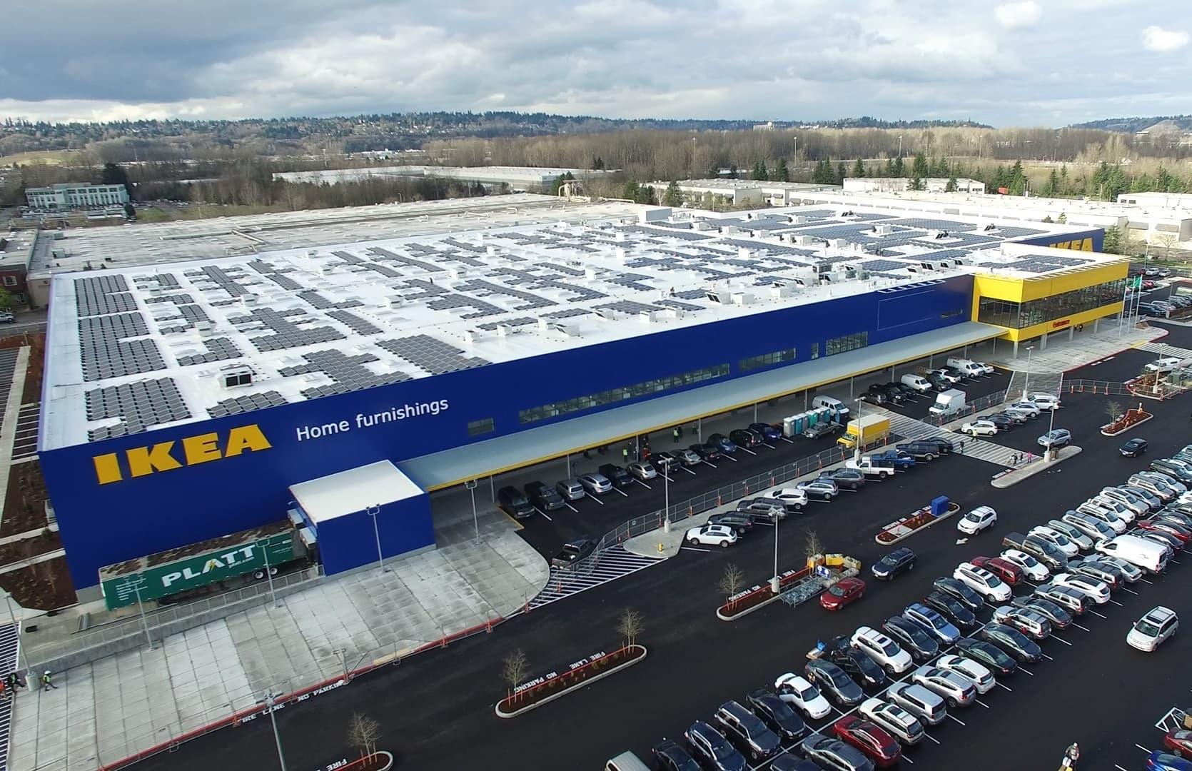 IKEA IKEA Completes Washington's Largest Rooftop Solar Project