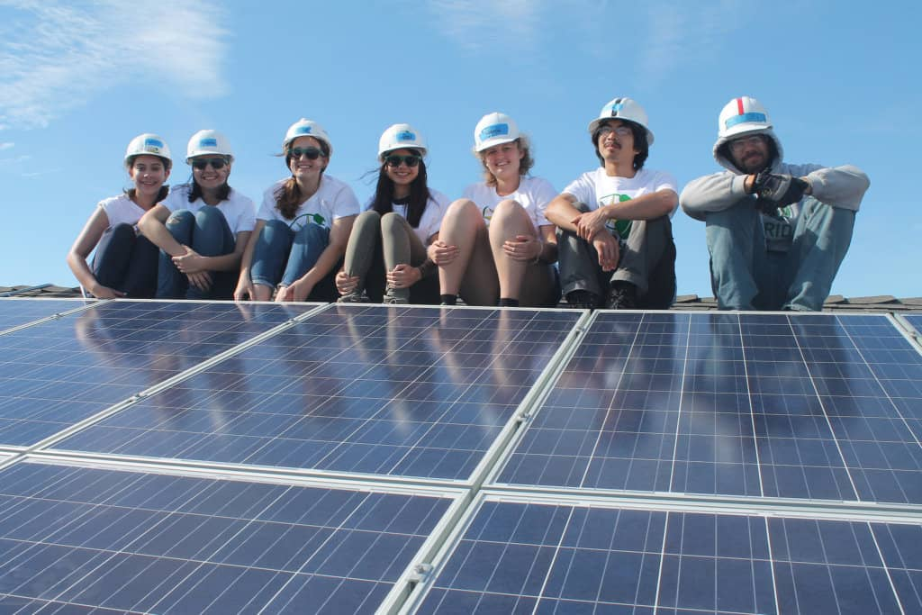 College Students Install Low Income Solar During Spring