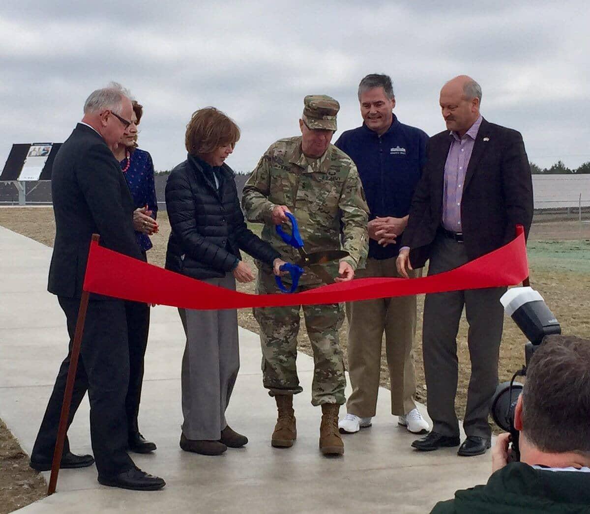 Minnesota-Power Minnesota Power, National Guard Cut Ribbon On Solar Project