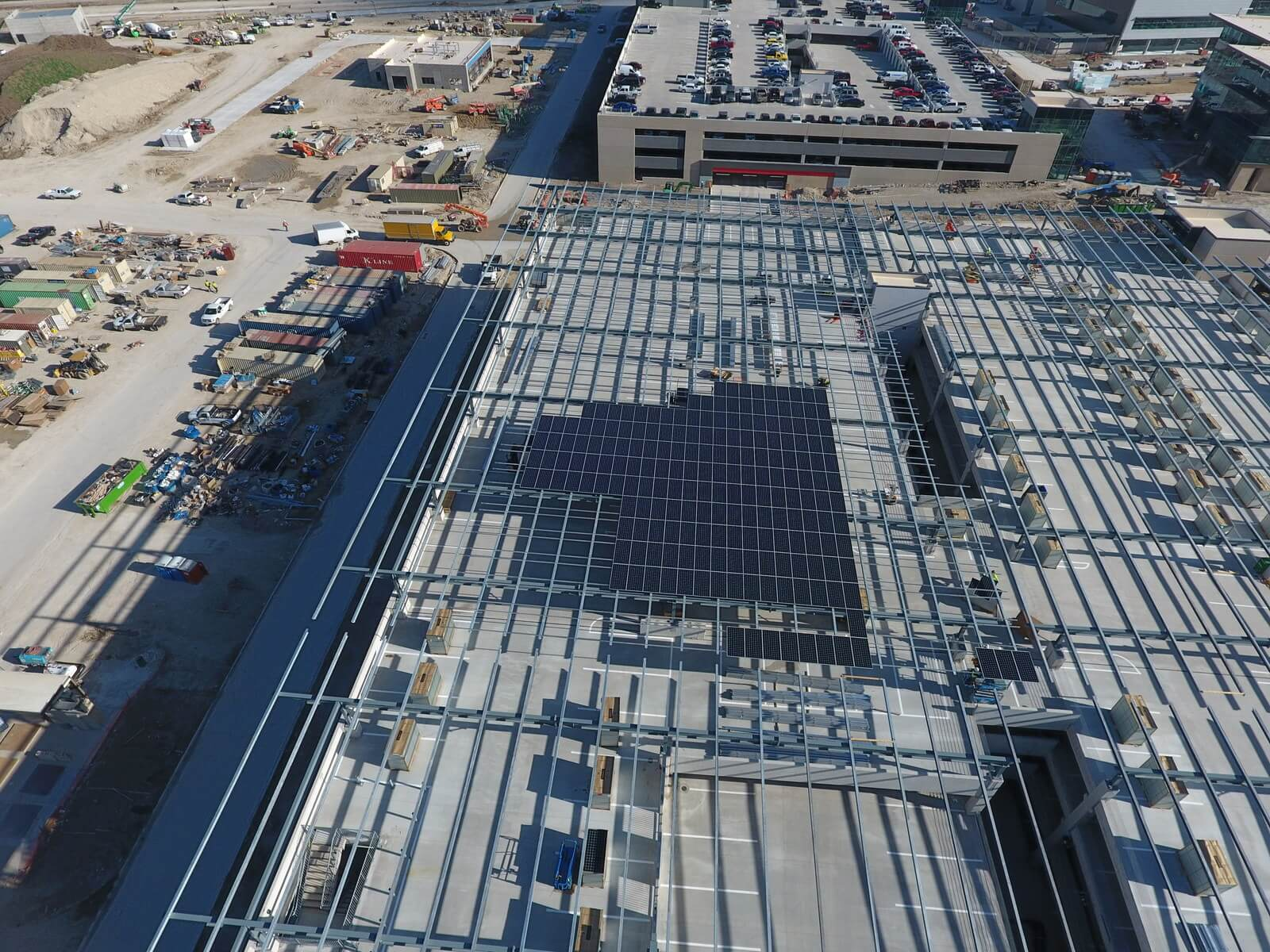 Large solar installation takes shape at new toyota for Toyota motor company usa