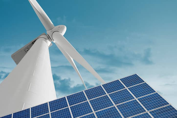 Photovoltaic panel and wind generator as alternative and renewable electricity production technology