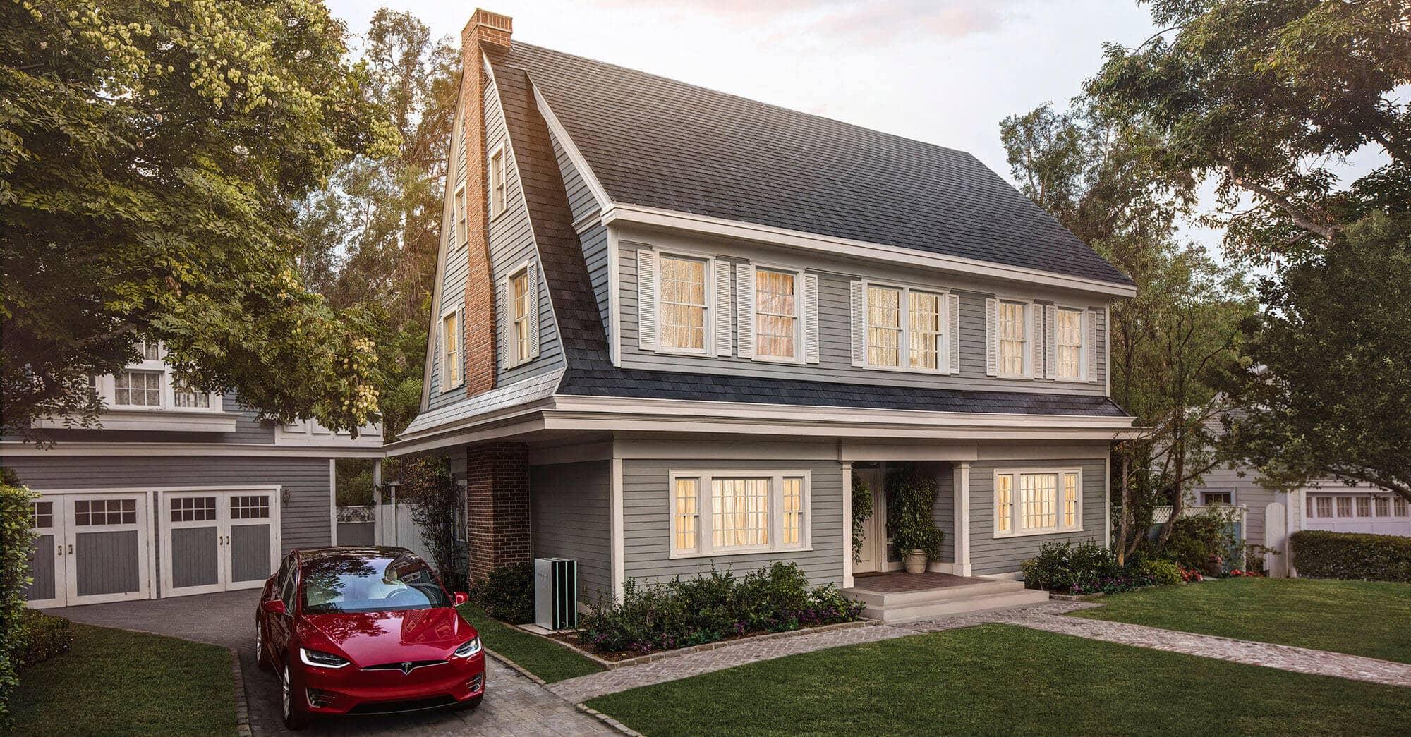 tesla starts taking solar roof tile orders reveals details solar industry. Black Bedroom Furniture Sets. Home Design Ideas