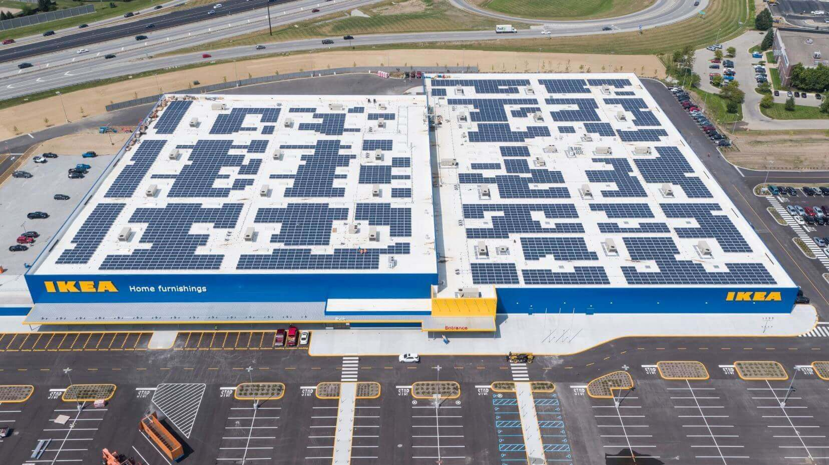 ikea wraps up mw solar project at new indiana store. Black Bedroom Furniture Sets. Home Design Ideas