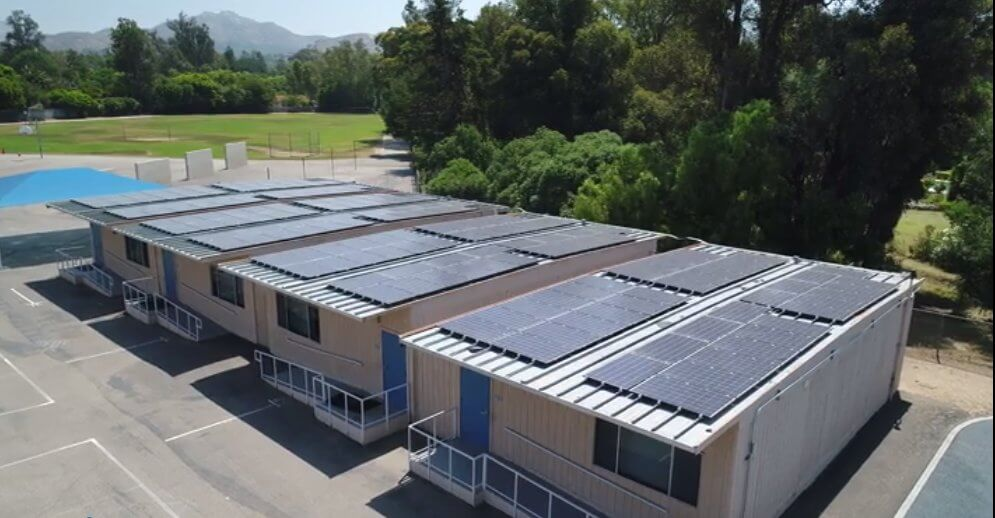 Modular Classroom California : Calif school district adds solar on portable classrooms