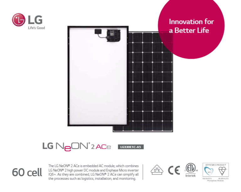 LG Electronics USA Launches Two New Residential Solar Panel